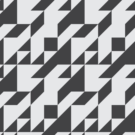 contrast: Seamless symmetrical abstract geometric pattern with contrast colors illustration.