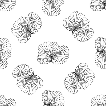 replication: Seamless monochrome doodle pattern vector illustration. For continuous replication.
