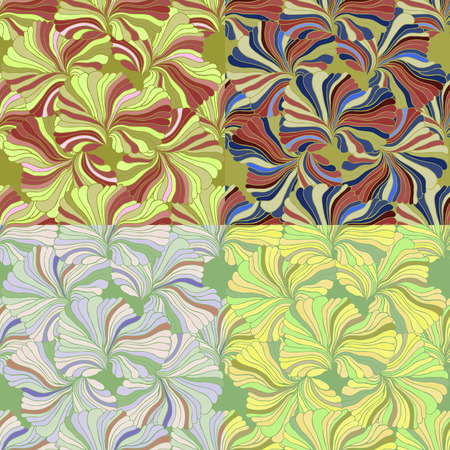 replication: set of Seamless pattern in variety of colors vector illustration. For continuous replication.