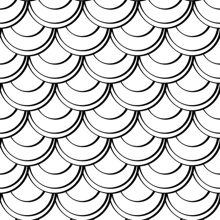 replication: Seamless pattern of fish scale vector illustration. For continuous replication. Monochrome