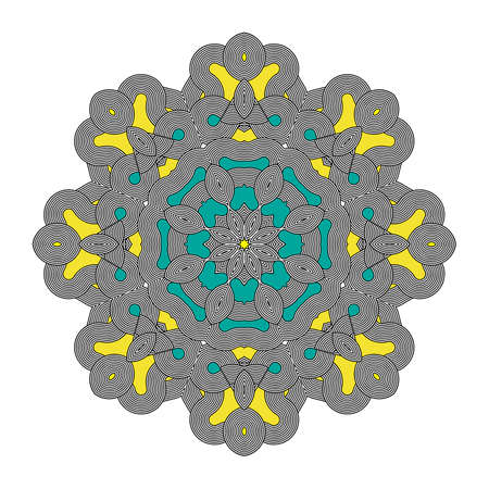 Mandala Round Colorful Zentangle Ornament Pattern Vector Illustration Illustration
