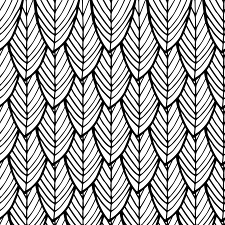 abstract doodle hand drawn monochrome seamless pattern Illustration
