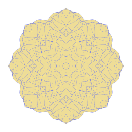 round floral ornament mandala isolated on white background Illustration
