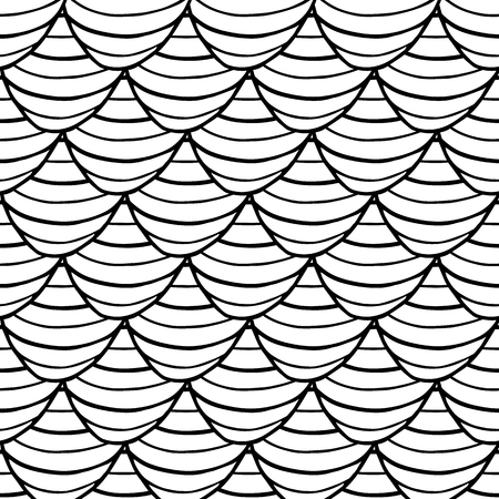 abstract doodle hand drawn monochrome seamless pattern scale