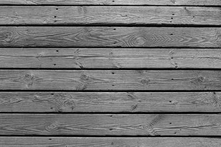 Natural old gray wood planks background. Wooden boards texture. 写真素材