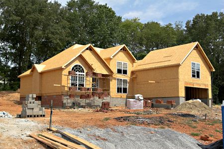 New large home being constructed in new neighborhood photo