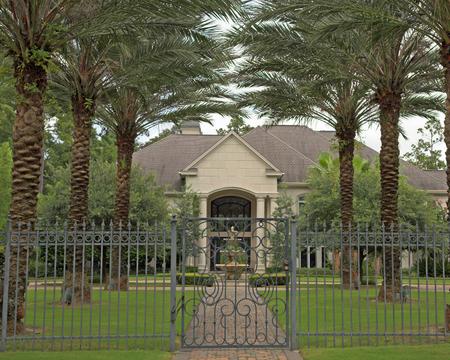 million: New million dollar homes in affluent neighborhood, sales are steady Stock Photo