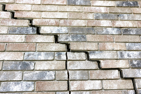 This part of the home's foundation is experiencing settlement (collapse). Eventually the brick veneer begins to separate from door and window frames. Finally framing and roof problems occur, as well as plumbing problems. Foundation problems don't get