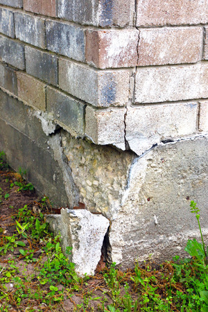 eventually: This part of the home's foundation is experiencing settlement (collapse). Eventually the brick veneer begins to separate from door and window frames. Finally framing and roof problems occur, as well as plumbing problems. Foundation problems don't get