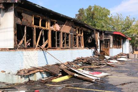 flood water: Family owned hardware store caught on fire overnight, Fire marshall is investigating cause of blaze.