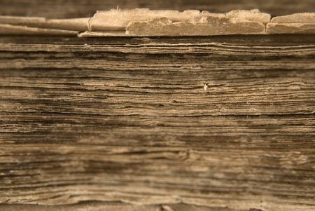 old brown sheets of the ancient book Stock Photo - 14203294