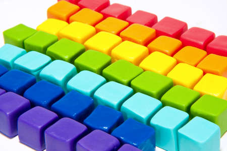 colorful cubes with paste lay out in to background