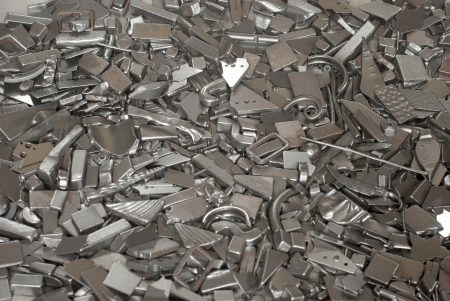 Pieces of different metallic parts for recycling Stock Photo - 16862997