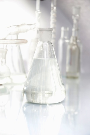 Laboratory glassware  over white background