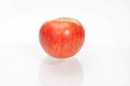 red apple isolated on white background