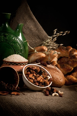 healthy  meal with bread and cereals Stock Photo - 19515989