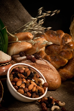healthy  meal with bread and cereals Stock Photo - 19515795