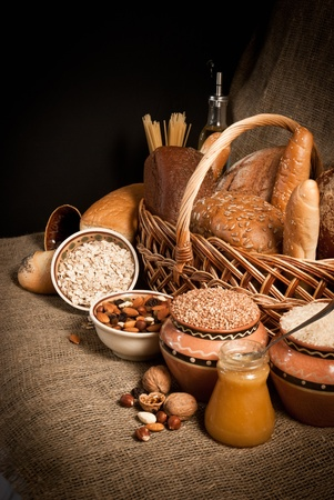 healthy  meal with bread and cereals Stock Photo - 19515696