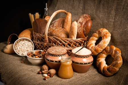 healthy  meal with bread and cereals Stock Photo - 19515671