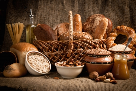 healthy  meal with bread and cereals Stock Photo - 19515644