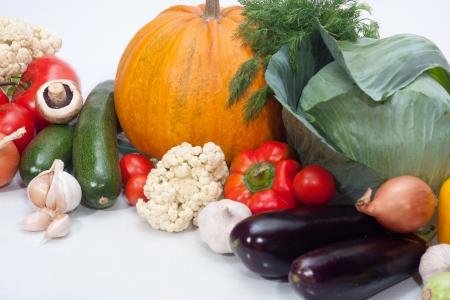 Assortment of exotic fruit isolated on white Stock Photo
