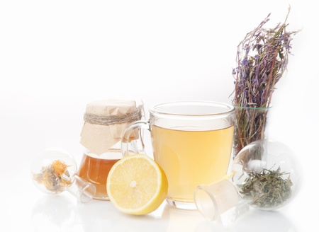 Healing herbs  Alternative medicine concept photo