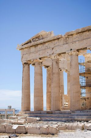 Parthenon temple on the Acropolis in Athens, Greece Foto de archivo