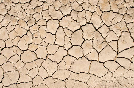 Dry lake with natural texture of cracked ground. Natural texture Standard-Bild