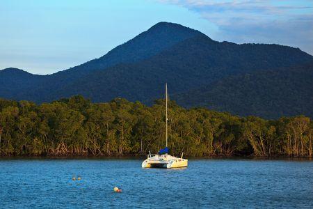 Catamaran Moored in Cairns Harbor Stock Photo - 5970976