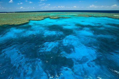 barrier: Great Barrier Reef Clam Gardens Stock Photo