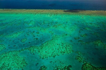 Aerial View of Arlington Reef Great Barrier Reef Stock Photo - 6051764