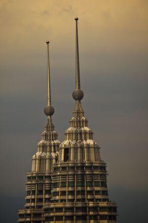 Top of Towers in Kuala Lumpur, Malaysia at Twilight