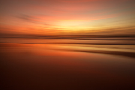 motion blurred colorful sunset