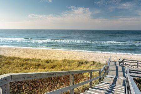 beach access: access to a beautiful beach Stock Photo