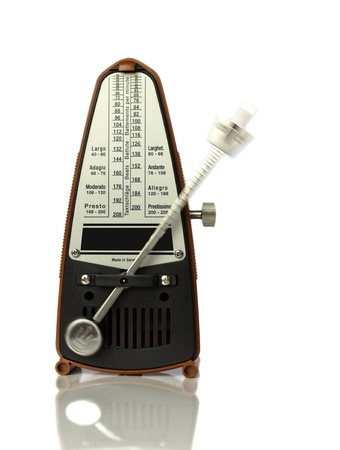 A metronome against a white background Stock Photo - 18520464