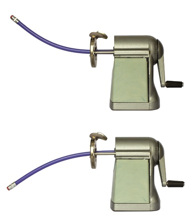 sharpeners: two pencil sharpeners, isolated