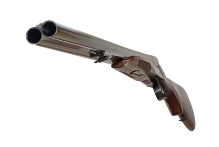 shotgun: Excellent Double Shotgun on a white background Stock Photo