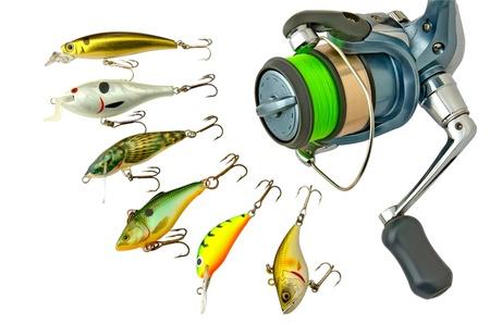 Fishing lures  Standard-Bild