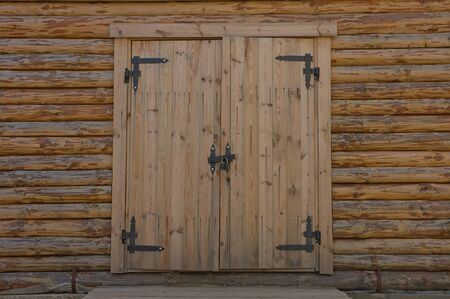 Wooden blockhouse with the door closed Stock Photo - 13379678