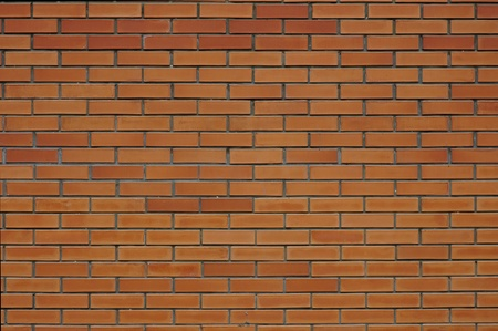 Texture of a wall of red brick