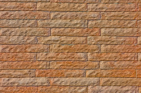 The wall of the  crushed  brick  The horizontal layout photo
