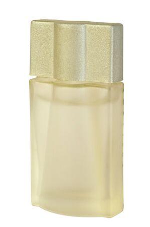 Perfume bottle on white background   photo
