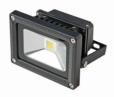 LED Energy Saving Floodlight  On a white background Zdjęcie Seryjne - 28073667