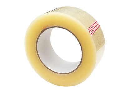 packing: Roll of Scotch tape. Isolated on white background.
