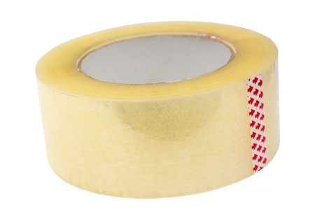 Roll of Scotch tape. Isolated on white background.