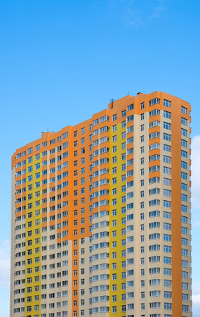 KIEV, UKRAINE - 7 March 2014: Colorful house on a background of blue sky. Photo Editorial Use Only.