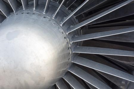 turbine engine: Fragment the old turbine aircraft engine. closeup. Stock Photo