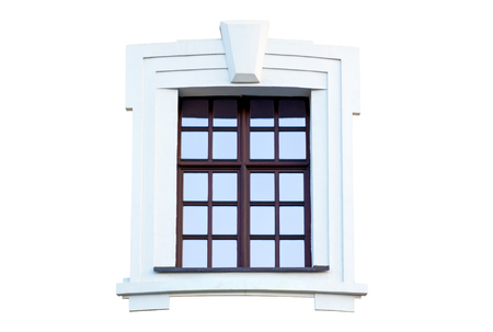 Window in the ancient style. Isolated on white background.