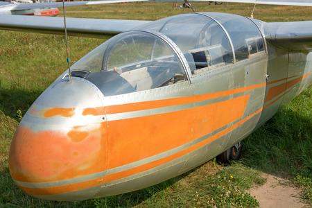 Cabin of the old glider closeup. Standard-Bild
