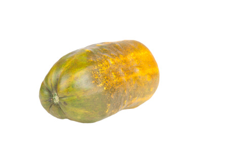 overripe: overripe cucumber for seed isolated on white background